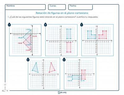 Rotación De Figuras En El Plano Cartesiano